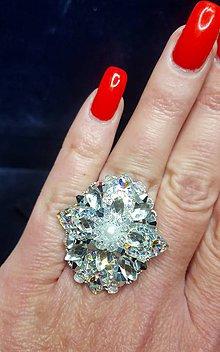 Prstene - Trblietavý prsteň s perličkou - 9177448_