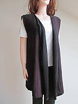 Iné oblečenie - Vesta - černá s bordó - 9176597_