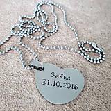 Náhrdelníky - náhrdelník veľké srdiečko s nadpisom - 9175396_