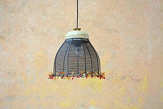 Svietidlá a sviečky - V listoví. Drátovaný lustr. - 9176574_