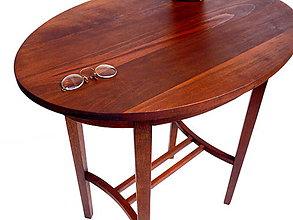 Nábytok - Drevený stolík - 9173704_