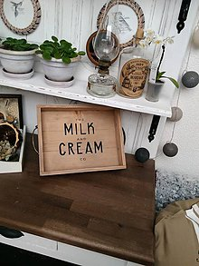 "Nádoby - Drevený farmársky podnos ""starý šuplik Milk"" - 9175480_"