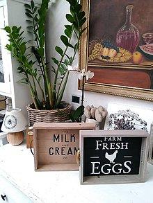 """Nádoby - Drevený farmársky podnos """"starý šuplik Eggs"""" - 9175557_"""