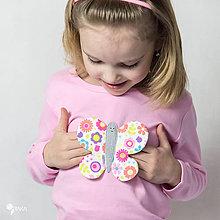 Detské oblečenie - tričko (dlhý rukáv) MOTÝLIK - 9174884_