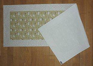 Úžitkový textil - Obrus, štóla ZAJAČIKOVIA NA LÚKE (1) - 9176331_