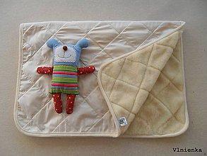 Úžitkový textil - Deka 100% ovčie rúno MERINO ELEGANT smotanová Off White - 9176817_