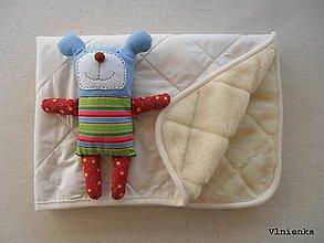 Textil - RUNO SHOP Deka 100% ovčie rúno MERINO ELEGANT smotanová Off White - 9176896_