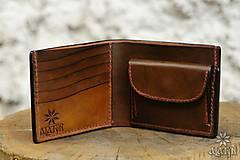 Peňaženky - Kožená peňaženka VI. Kvet života - 9176246_