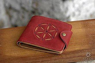 Tašky - Kožená peňaženka VI. Svarga (So zapínaním) - 9176888_
