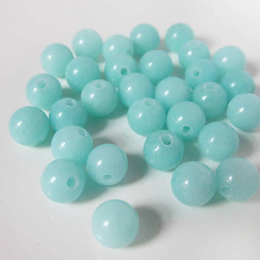 Jadeit korálka / 6mm / balenie 10ks (Amazonite Green)