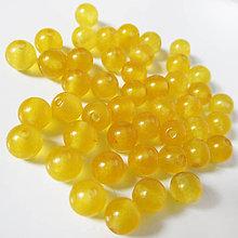 Minerály - Jadeit korálka / 6mm / balenie 10ks (Mango Squeeze) - 9174566_