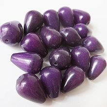Minerály - Jadeit korálka / kvapka 10x14mm (Dark Violet) - 9174981_