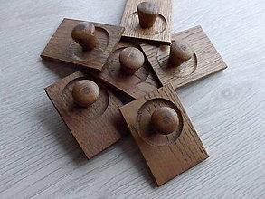 Dekorácie - Dubový vešiak, úchytka, komponent - 9173506_