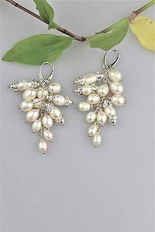Náušnice - Luxusné náušnice z pravých perál, striebro.... - 9173594_