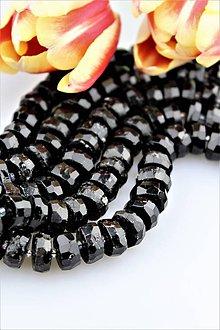 Minerály - Turmalín čierny korálky brúsené 6x13mm - 9174687_