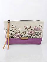 - Ľanová kabelka - clutch bag s ručnou maľbou