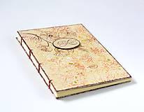 Papiernictvo - Béžovo-červená svadobná kniha hostí s kvetmi - 9173800_