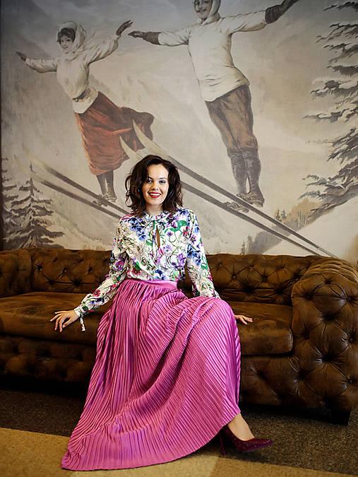 Slávnostná sukňa Plissé