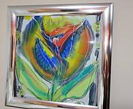 Obrazy - obraz KVETY - maľba na hodvábe - 9173360_