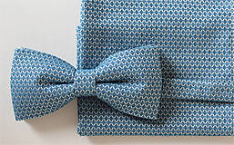 Set vreckovka a motýlik modrý vzorovaný