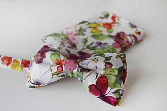 Doplnky - Set vreckovka a motýlik- som romantik - 9174167_