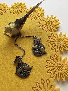 Papiernictvo - Záložka - štebotajúce vtáčence - 9174523_