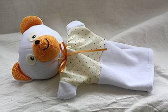 Hračky - Maňuška. Zvieratko - bielučký medvedík Sniežko. - 9176702_