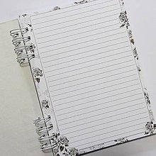 Polotovary - Základ pre zápisník - Mrs Black - 9175168_