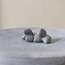 Náušnice - Betónky 3Hill gray - 9176720_