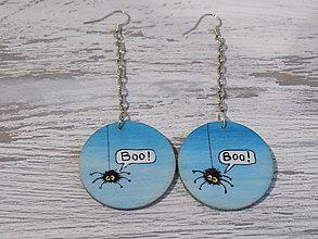 Náušnice - Náušnice - Boo (modré) - 9176594_