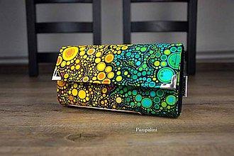 Peňaženky - Zelenožluté bublinky - 9176508_