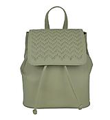 - Kožený ručne vyšívaný ruksak v bežovej farbe-béžové vyšívanie - 9176031_