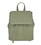 Kožený ručne vyšívaný ruksak v bežovej farbe-béžové vyšívanie