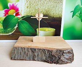 Dekorácie - Malý drevený krížik - obojstranný - 9176092_