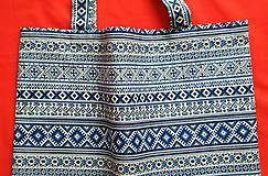 Nákupné tašky - Nákupná taška  - modrá - 9174059_