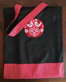 Nákupné tašky - Nákupná taška- bodky, vtáčiky - 9174902_