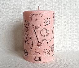 Svietidlá a sviečky - sviečka z palmového vosku- Drobček - 9173250_