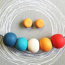 Sady šperkov - modro-žlté - 9173847_