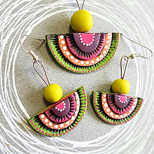 Sady šperkov - zeleno-fialové - 9173868_