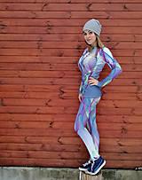 Nohavice - Swirly lines grey - termo oblečenie - 9175240_
