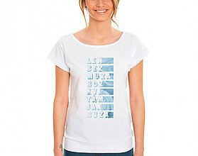Tričká - Len bez muža... tričko s autorskou potlačou - 9176782_