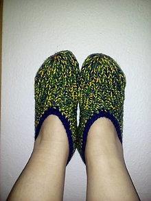 Obuv - papuče pletené - 9177081_