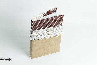 Papiernictvo - Obal na knihu otvárací - s čipkou I. - 9173078_