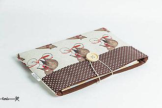 Papiernictvo - Obal na knihu - medvede na bicykli - 9173115_