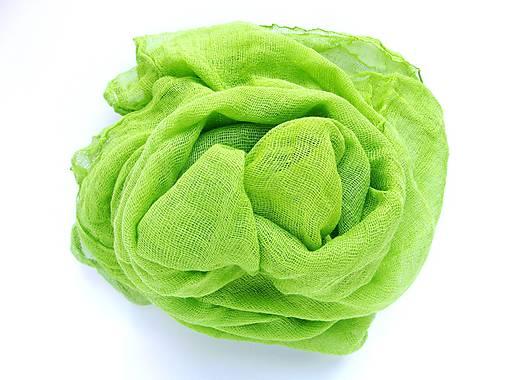 SVETLO zelený bavlnený šál skladom:-)