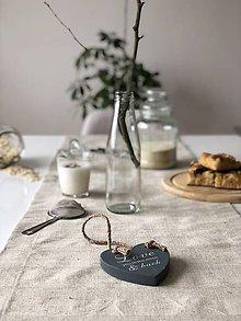 Úžitkový textil - Štóla na stôl z ľanového plátna - 9176859_