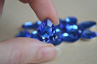 Komponenty - Kabošon sklenený zafír 13x18mm, 0.45€/ks - 9173359_