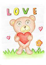 Kresby - Zamilovaný maco - 9176082_