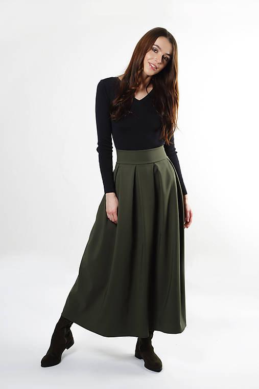 Zelená sukňa Mia   ceccilia - SAShE.sk - Handmade Sukne fdba962c1fc