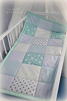 Textil - Prehoz z kolekcie Basic 120x60cm-mentol-bledomodro-biely - 9178308_